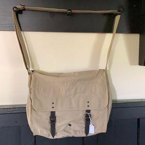 J CREW NWOT messenger bag tan leather